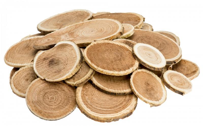 Holzscheiben rund 250g 2-5cm