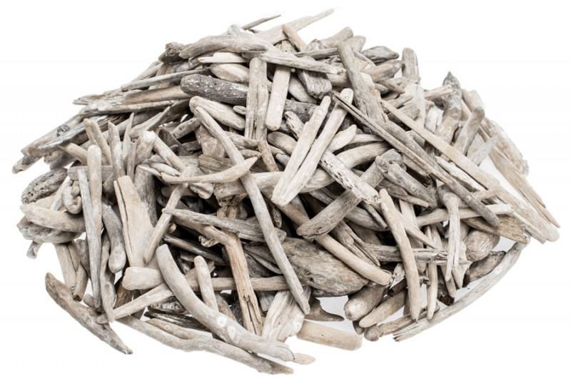 Treibholz weiß 2,5-7,5cm