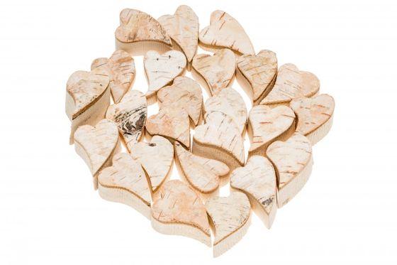 Birken Herz 4cm 24 Stück – Bild