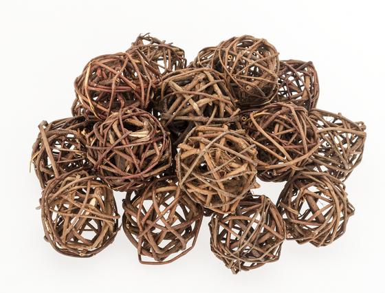 Brunch Ball natur 4cm 20 Stück | Rankenkugel – Bild 1