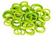 Bambus Ringe apfelgrün 50 Stück, Ø5-6 cm – Bild 1