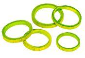 Bambus Ringe apfelgrün 50 Stück, Ø5-6 cm – Bild 2