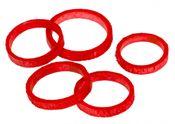 Bambus Ringe rot 50 Stück, Ø5-6 cm – Bild 2