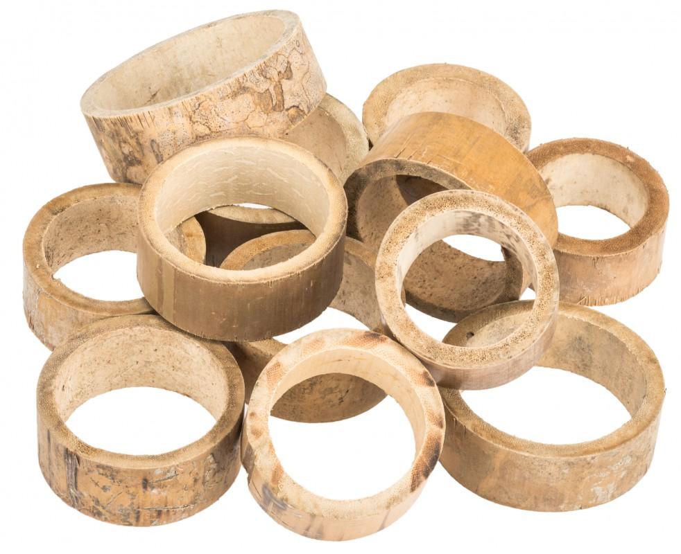 Bambus Ringe natur ca. 5x2cm 12 Stk.