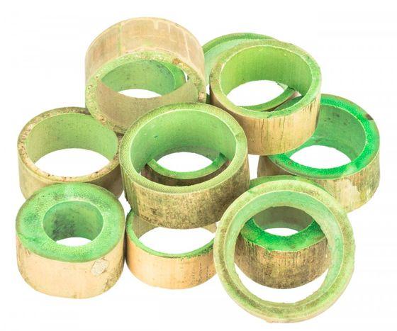 Bambus Ringe apfelgrün ca. 5x2cm 12 Stk. – Bild 1