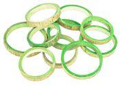 Bambus Ringe apfelgrün ca. 10x1cm 10 Stk. – Bild 1