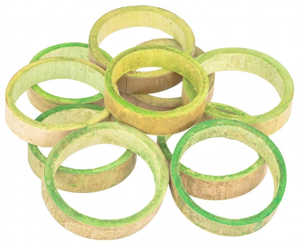 Bambus Ringe apfelgrün ca. 10x2cm 10 Stk.
