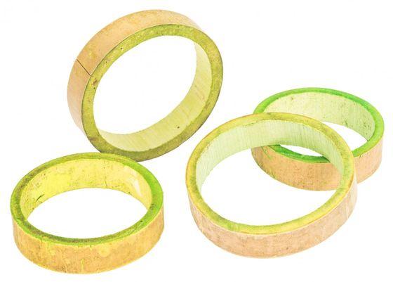 Bambus Ringe apfelgrün ca. 10x2cm 10 Stk. – Bild 2