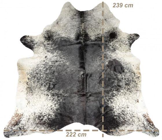 Kuhfell weiß Salz und Pfeffer 239x222cm WYSIWYG (Direktauswahl) Nr. 302127 – Bild