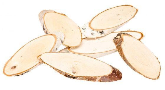 Birkenscheiben oval 15-20cm 6 Stück – Bild 1