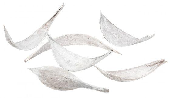 Kokosblatt small weiß ca. 10-30cm – Bild 2
