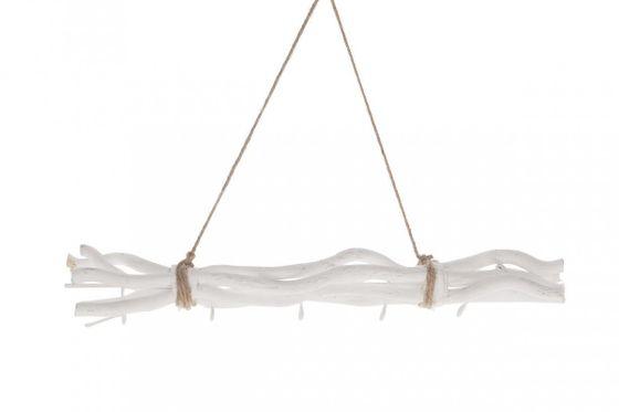 Maulbeeren Bündel weiß ca. 50cm, mit 5 Haken und Sisal Kordel – Bild 1