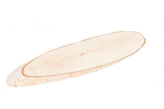 Birkenscheiben oval 25-30cm 4 Stück – Bild 2