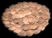 Camar kupfer 0,5kg | Capiz | Perlmuttscheiben – Bild 1