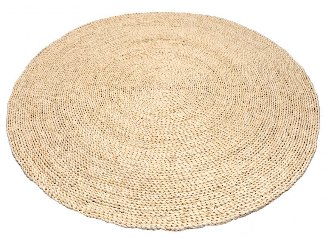 Strohteppich schlicht 150 cm rund Maisstrohteppich