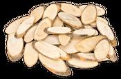 Holzscheiben oval Pinienholz ca.6-10cm 250g – Bild 1
