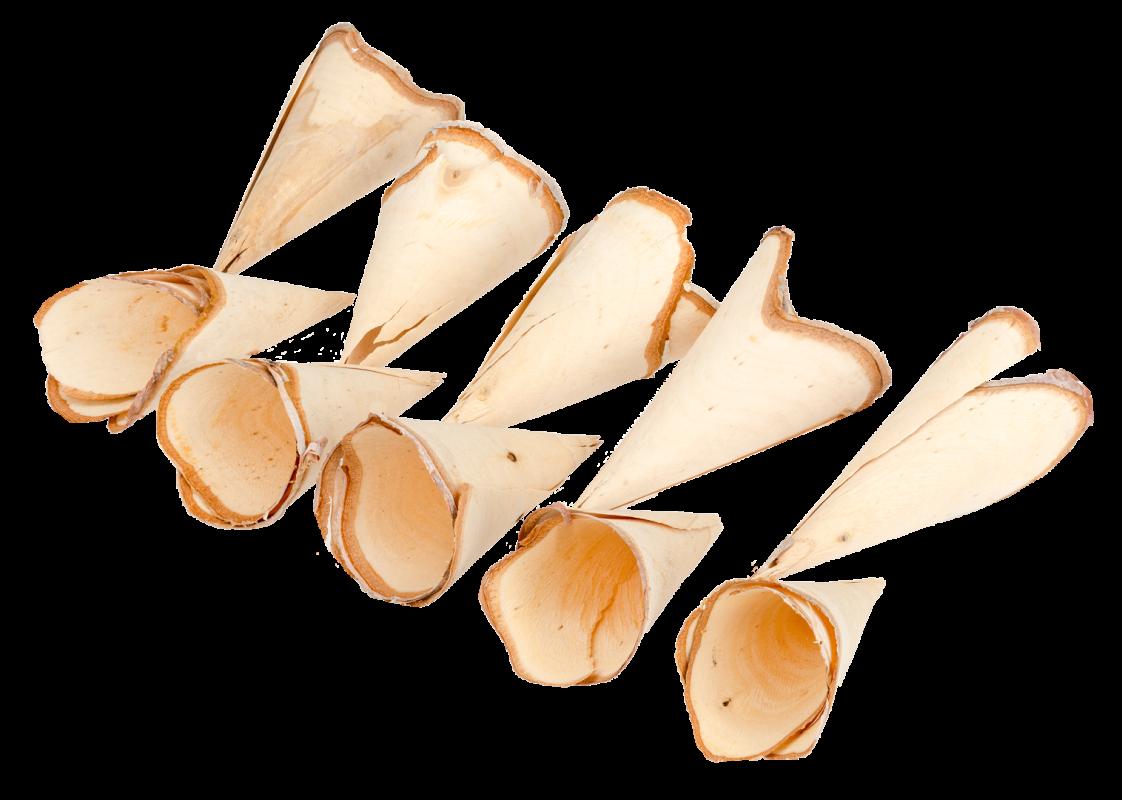Holz Tüten 10 Stück ca. 10-14cm
