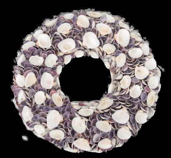 Muschelkranz white Chippi & violett Chippi Ø 40cm – Bild