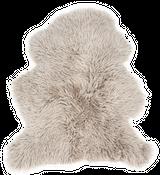 Schaffell Curly platingrau | Curly Lammfell – Bild 1