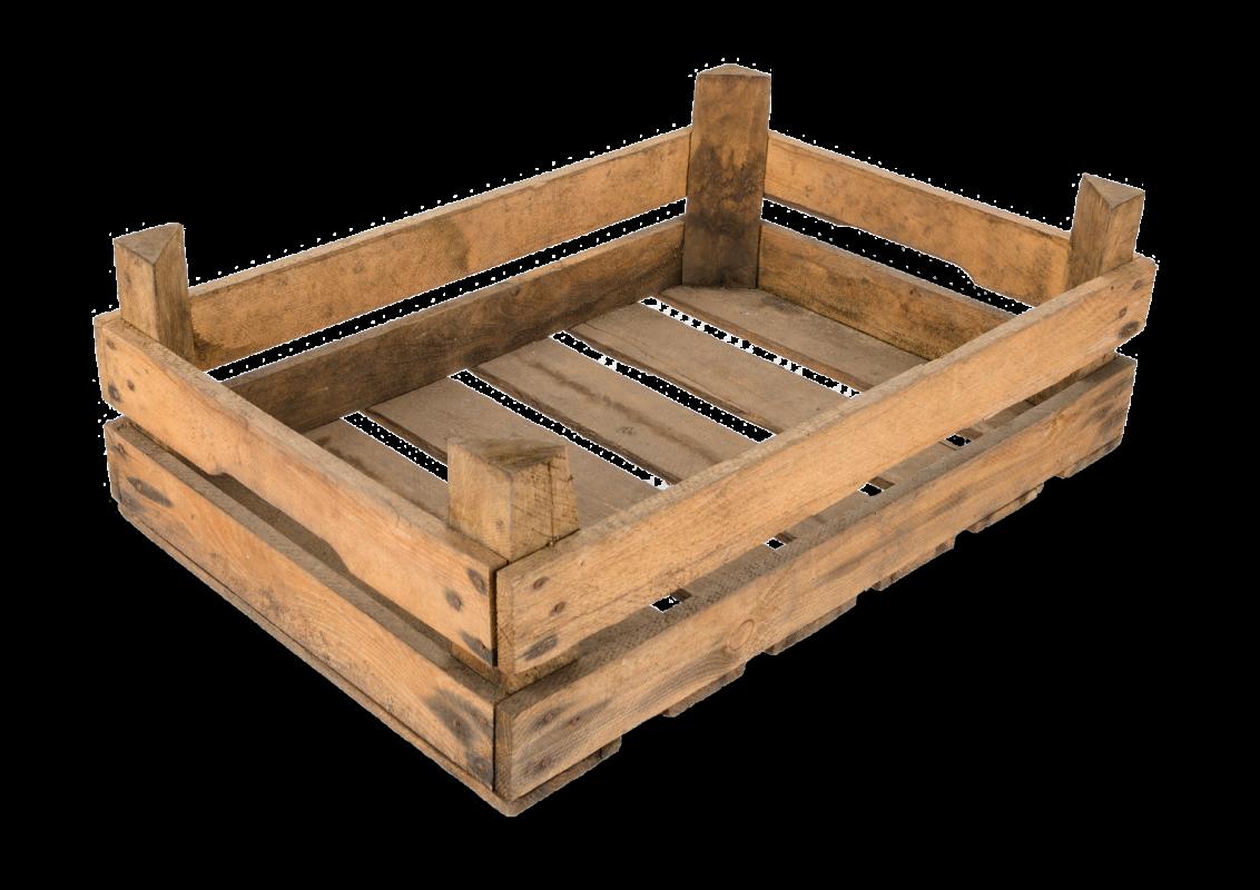 Alte stabile Holzsteige ca. 40x60x20cm