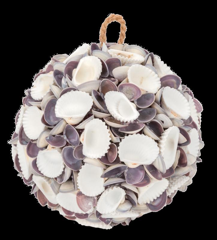 Muschelkugel white & violett Chippi Ø 18cm