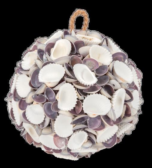Muschelkugel white & violett Chippi Ø 18cm – Bild