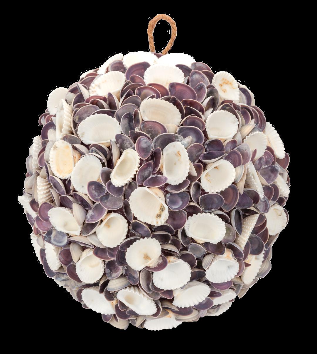 Muschelkugel white & violett Chippi Ø 25cm