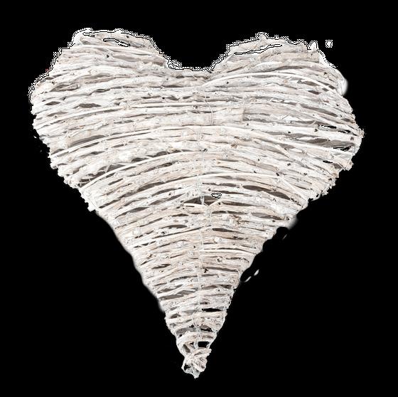Deko Herz aus weißen Dekoästen ca. 20cm – Bild