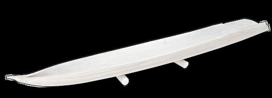 Kokos Boot weiß 60-80 cm mit Standfuß | Kokosblatt – Bild