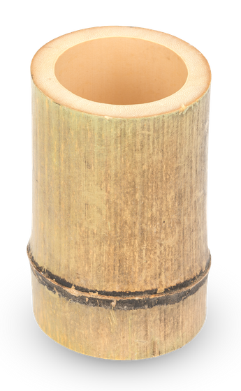 Bambus Vase natur ca. 10x7x7cm – Bild 1