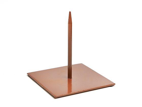 Metallständer 25x25cm kupfer – Bild