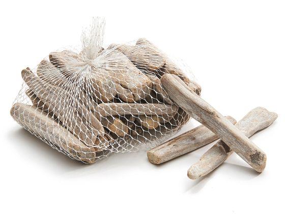 Treibholz weiß im Netz mit 0,5kg – Bild