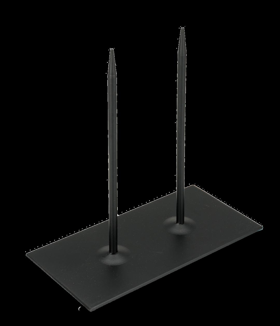 Metallständer 20x10x20cm 2-Pins schwarz