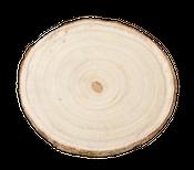 Baumscheibe 20cm Dekotablett mit Metallfüßen Ø ca. 20cm | Baumscheibenhänger – Bild 2