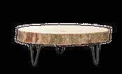 Baumscheibe 20cm Dekotablett mit Metallfüßen Ø ca. 20cm | Baumscheibenhänger – Bild 1