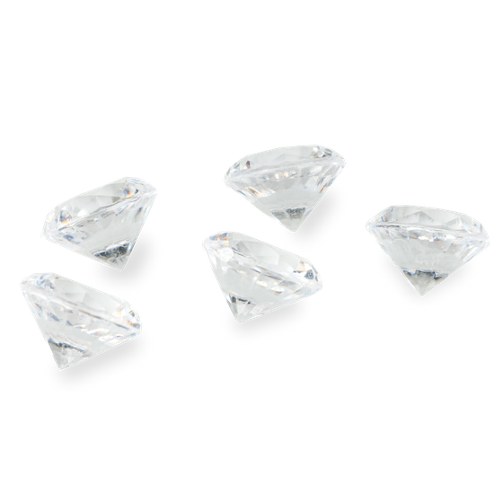Deko Diamanten Ø 20mm ± 280g ca. 150 Stück | Dekosteine Diamanten – Bild 2