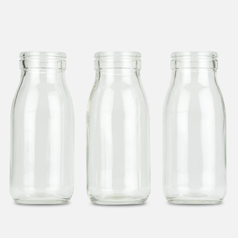 Nadeco Glasflaschchen 24 Stuck Ca 14x6cm Deko Glasflaschen