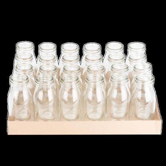 Glasfläschchen 24 Stück ca. 14x6cm | Deko Glasflaschen – Bild 2