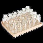Glasfläschchen 24 Stück ca. 14x6cm | Deko Glasflaschen – Bild 1