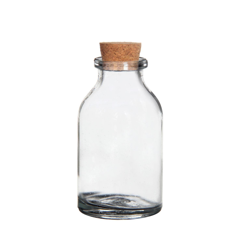 Mini Glasflaschen mit Korken 20ml 105 Stück 6x3cm | Deko Glasflaschen