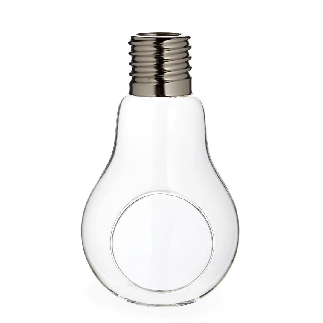 Pflanzenglas / Teelichtglas Glühbirne  h. 17cm Ø 10cm