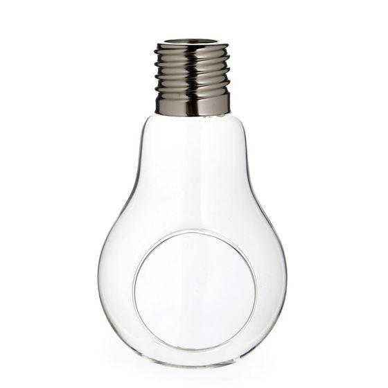 Pflanzenglas / Teelichtglas Glühbirne  h. 17cm Ø 10cm – Bild 1