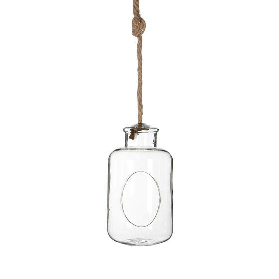 Pflanzenglas Deko Flasche zum Hängen h. 21cm Ø12cm – Bild 1