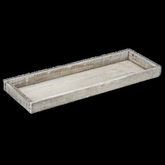 Holz-Tablett grau 42x14x3cm | Dekotablett – Bild
