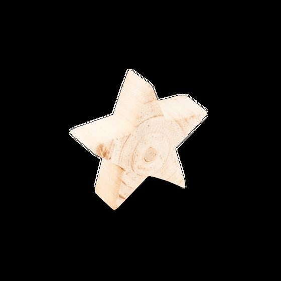 Dekostern aus Holz ca.12x4cm | Holzstern klein – Bild 1