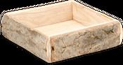 Paulownia Holz-Tablett natur 24x24x7cm | Dekotablett – Bild 1