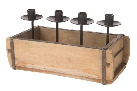 Kerzenständer ca. 20x16x16cm (alte Tonziegel Presse) – Bild