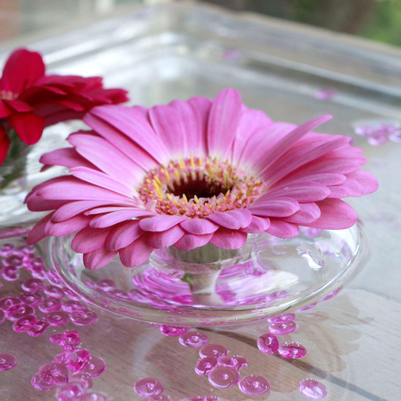 Blütenring aus Glas 3 Stück Ø8 cm | Blumenhalter