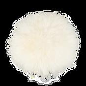 Sitzkissen Lammfell naturweiß ( Ø 34 cm )  – Bild 1