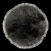Sitzkissen rund aus Lammfell anthrazit ( Ø 34 cm )  – Bild 1